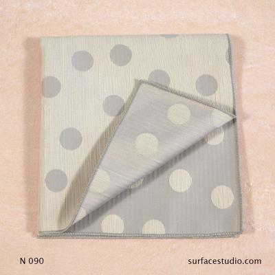 N 090 Beige Grey Polka Dot Patterned Napkin