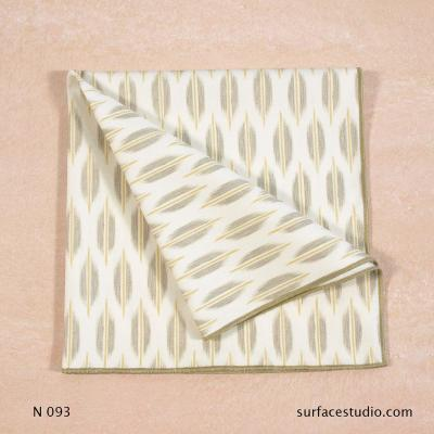 N 093 Brown Beige White Patterned Napkin