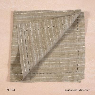 N 094 Brown Beige Striped Napkin