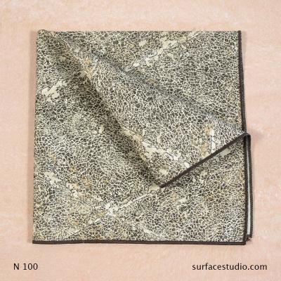N 100 Brown Black Speckle Patterned Napkin