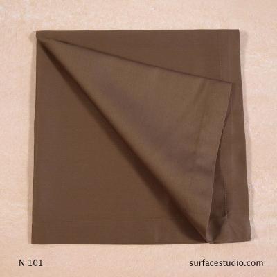 N 101 Brown Solid Napkin