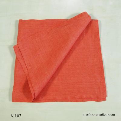 N 107 Orange Pink Solid Napkin