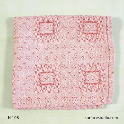 N 108 Pink White Patterned Napkin