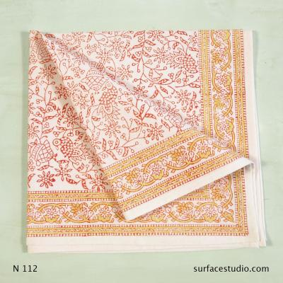 N 112 Pink Gold Multi Patterned Napkin