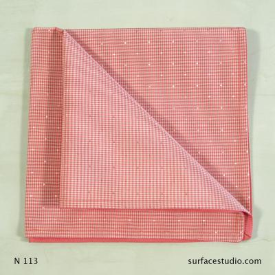 N 113 Pink Checkered Napkin