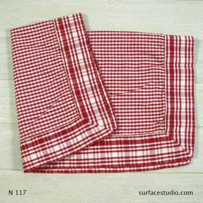 N 117 Red and White Checkered Napkin