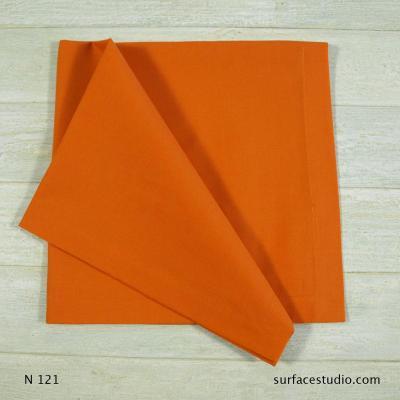 N 121 Orange Red Solid Napkin