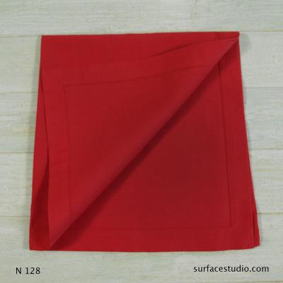 N 128 Red Solid Napkin