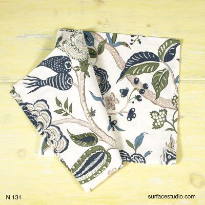 N 131 Blue Green Patterned Napkin