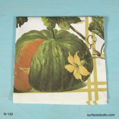 N 132 Green Yellow White Pumpkin Napkin