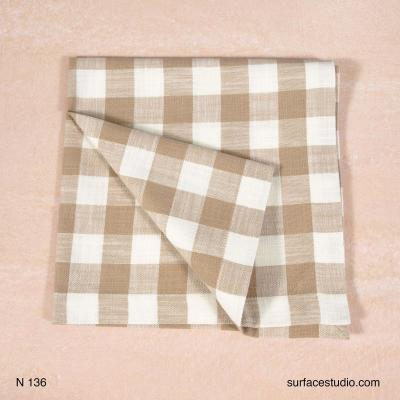 N 136 Brown and White Checker Napkin
