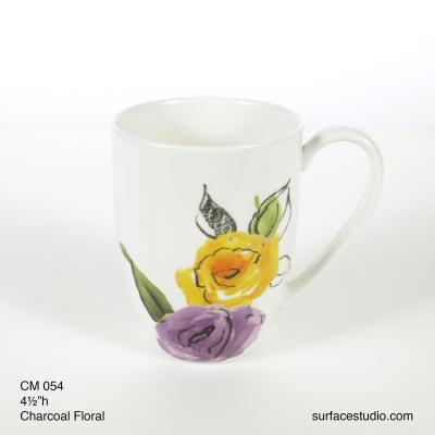 CM 054 Charcoal Floral