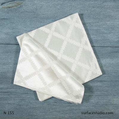 N 155 White Squares Napkin