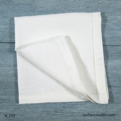 N 157 White Solid Napkin
