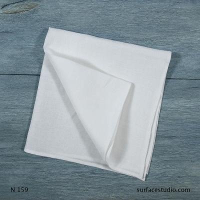 N 159 White Solid Napkin