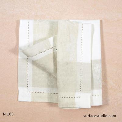 N 163 Beige and White Checkered Napkin4 available