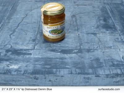 "Distressed Denim Blue 1.5"" Lip"
