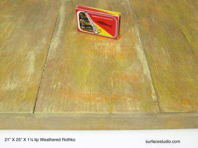 """Weathered Rothko 1.25"""" lip"""