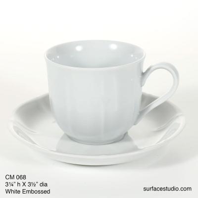 CM 068 White Embossed Set