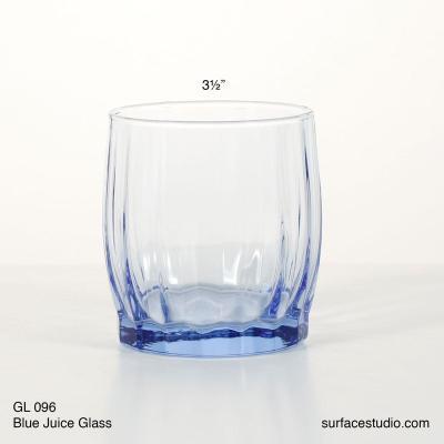 GL 096 Blue Juice Glass