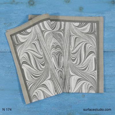N 174 Grey Patterned Napkin