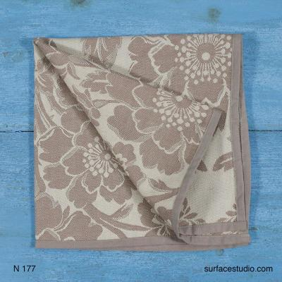 N 177 Grey Floral Napkin 4 available