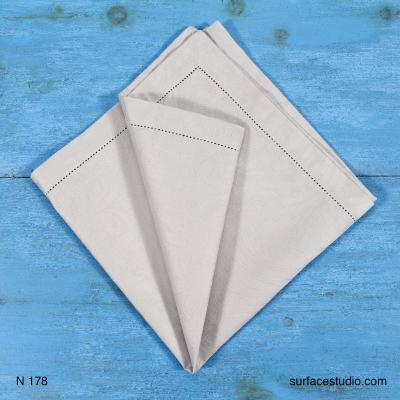 N 178 Light Grey Solid Napkin 4 Available