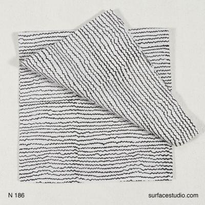 N 186 Black and White Striped Napkin