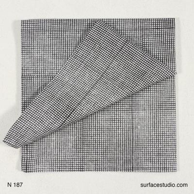 N 187 Black and Grey Striped Napkin