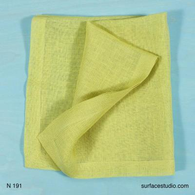 N 191 Yellow Solid Napkin