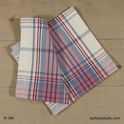 N 194 Purple and Blue Plaid Napkin 4 available