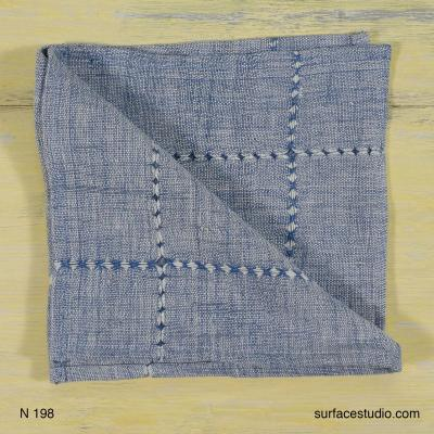 N 198 Blue Grey Napkin