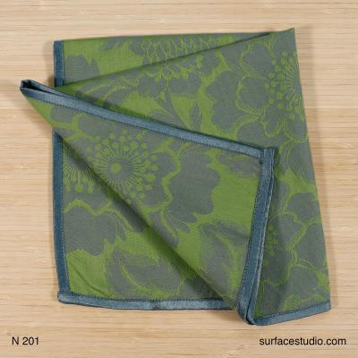 N 201 Green and Grey Napkin 4 available