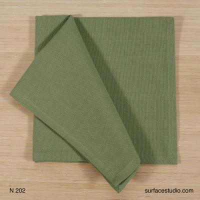 N 202 Solid Green Napkin 4 available