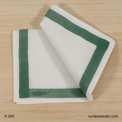 N 203 White Green Napkin