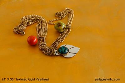 Textured Gold Pearlized