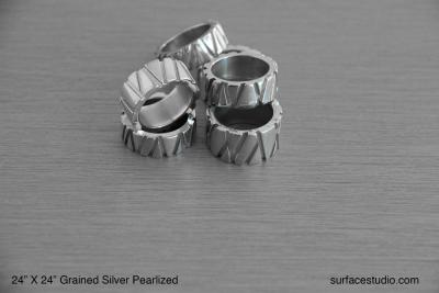 Grained Silver Pearlized