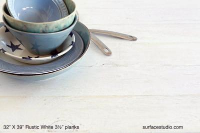 "Rustic White (3 ½"" Planks)"