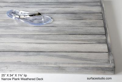 "Narrow Plank Weathered Deck 1 ½"" Lip (2 ½"" Planks)"
