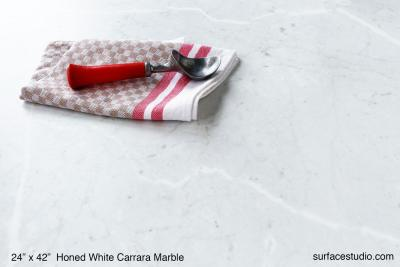 Honed White Carrara Marble (90 lbs)