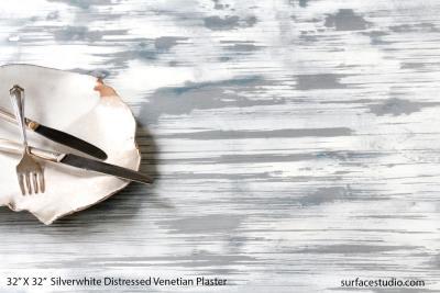 Silverwhite Distressed Venetian Plaster