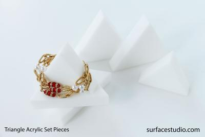 Satin White Triangle Set Pieces (5) $25 each