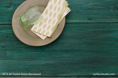"""Forest Green Barnwood (11"""" Planks)"""