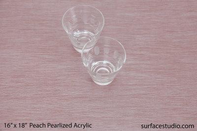Peach Pearlized Acrylic