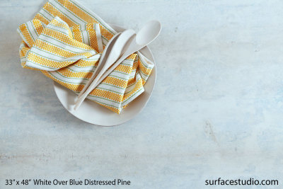 "White Over Blue Distressed Pine 2"" Lip"
