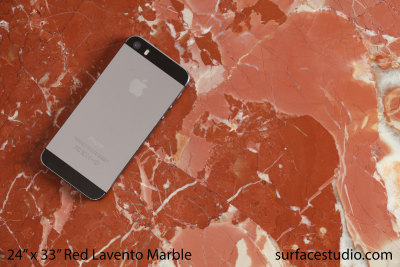 Honed Red Lavento Marble (65 lbs)