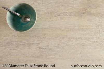 Painted Faux Stone Round