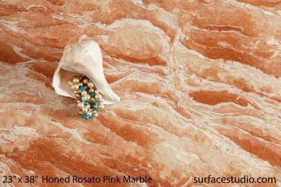 Honed Rosato Pink Marble (70 lbs)