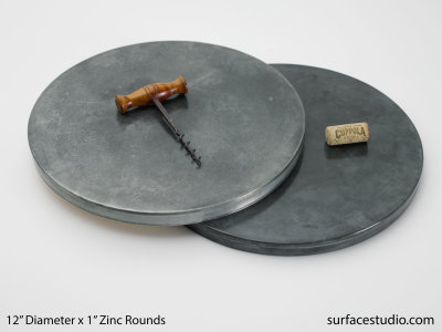 "12"" Zinc Rounds (2) $55 Each"