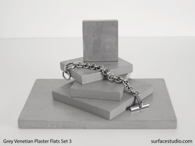 Grey Venetian Plaster Flats Set 3 (5) $25 - $50